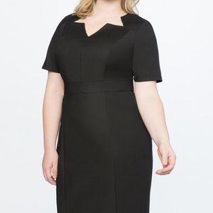 Eloquii Black Sheath Dress sz 18